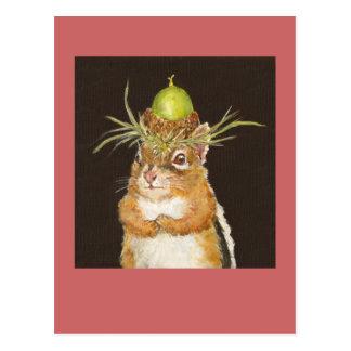 repentant chipmunk postcard