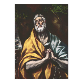Repentant Saint Peter by El Greco Card
