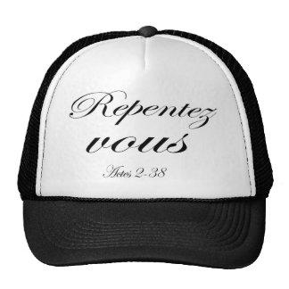 Repentez vous mesh hats