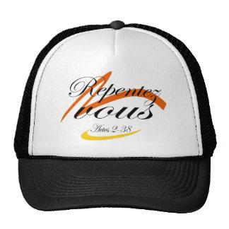 Repentez vous rature trucker hat