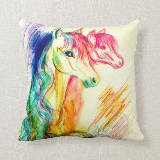Repentir Horses Throw Pillow
