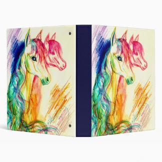 Repentir Horses Vinyl Binder