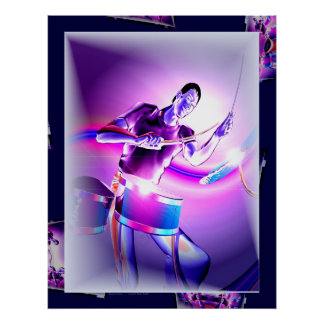 Repercussion - Purple Drummer Poster