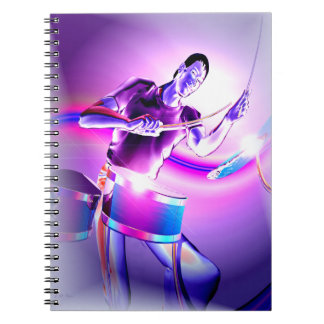 Repercussion - Purple Drummer Spiral Notebook