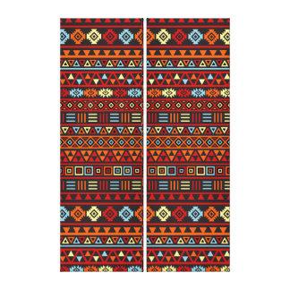 Repetición azteca Ptn - amarillo anaranjado del es Impresión En Tela