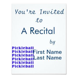 """repetición blue.png del pickleball invitación 4.25"""" x 5.5"""""""
