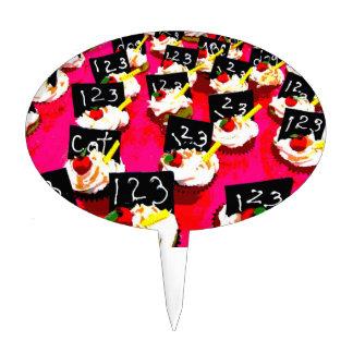 Repetición de la magdalena del profesor en fondo r figura de tarta