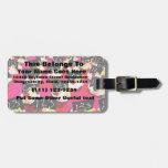 Repetición de la magdalena del profesor en fondo r etiquetas de equipaje