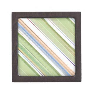 Repetición de las listas coloridas azul, verde y p cajas de recuerdo de calidad