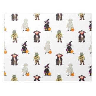 Repetición de los monstruos de Halloween de los Libreta Para Notas