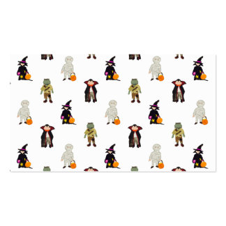 Repetición de los monstruos de Halloween de los Tarjetas De Visita