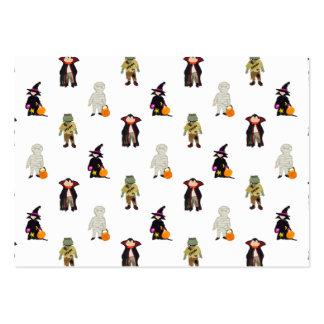 Repetición de los monstruos de Halloween de los Tarjetas De Visita Grandes