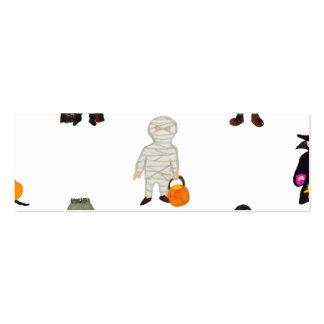 Repetición de los monstruos de Halloween de los Tarjetas De Visita Mini