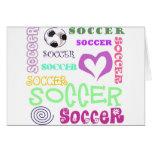 Repetición del fútbol tarjeta