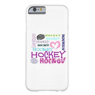 Repetición del hockey funda de iPhone 6 barely there