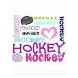 Repetición del hockey postales