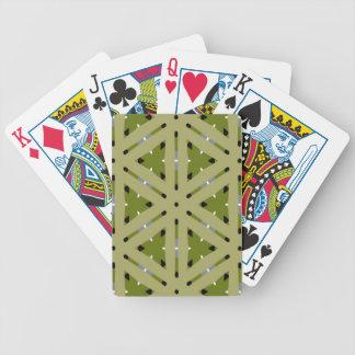 Repetición del modelo de la tela escocesa del verd barajas de cartas