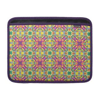 Repetición del mosaico del arco iris funda  MacBook