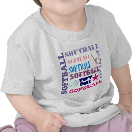 Repetición del softball camiseta