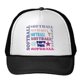 Repetición del softball gorros bordados