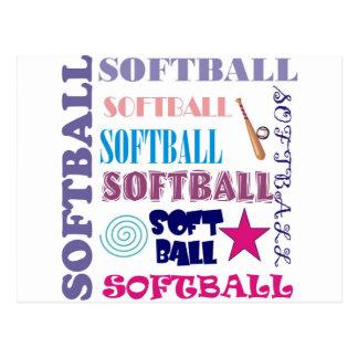 Repetición del softball tarjeta postal