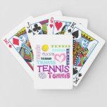 Repetición del tenis baraja de cartas