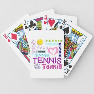 Repetición del tenis barajas de cartas