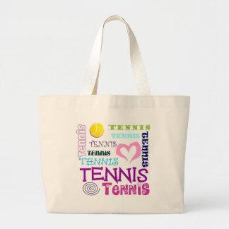 Repetición del tenis bolsa tela grande