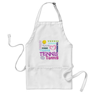 Repetición del tenis delantal