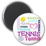 Repetición del tenis imán de frigorífico