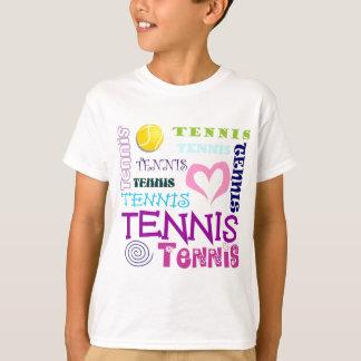Repetición del tenis remera