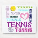 Repetición del tenis tapete de ratones