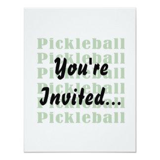 """repetición green.png del pickleball invitación 4.25"""" x 5.5"""""""