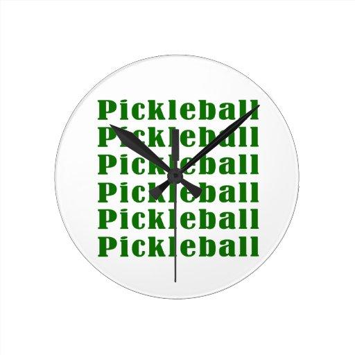 repetición green.png del pickleball relojes de pared