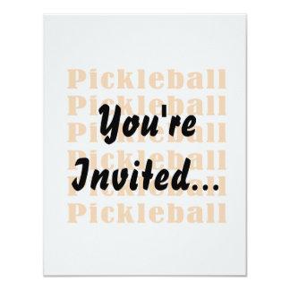 """repetición orange.png del pickleball invitación 4.25"""" x 5.5"""""""