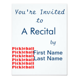 """repetición red.png del pickleball invitación 4.25"""" x 5.5"""""""