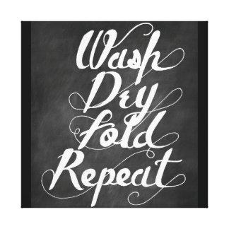 Repetición seca del doblez del lavado lona estirada galerias