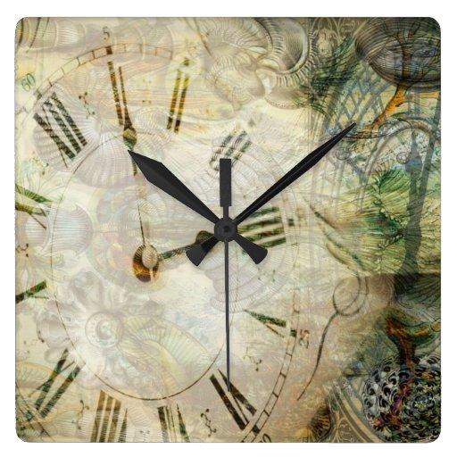 Repetidas veces reloj cuadrado
