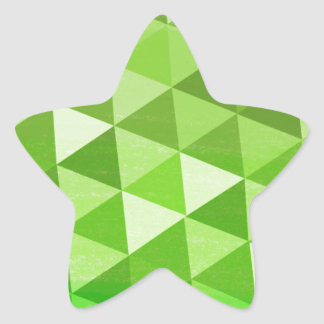 Repetitive Geometry (green and yellow) Star Stickers