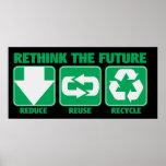 Repiense el futuro, recíclelo posters