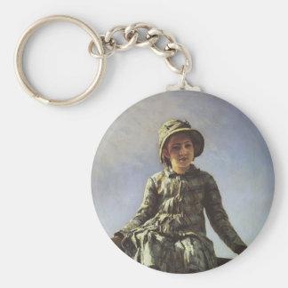 Repin-Retrato de Ilya de Vera Repina Llavero Personalizado