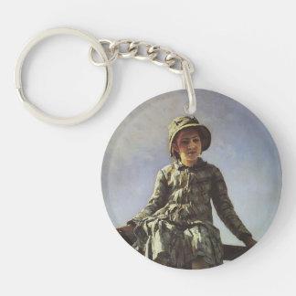 Repin-Retrato de Ilya de Vera Repina Llaveros