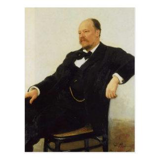 Repin-Retrato de Ilya del compositor Anatoly Lyado Postal