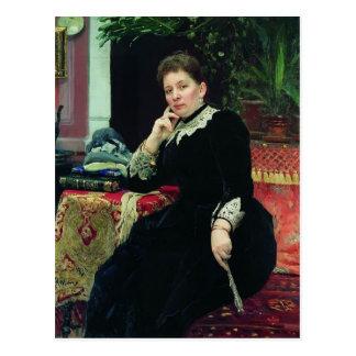 Repin-Retrato de Ilya del filántropo Olga Tarjeta Postal