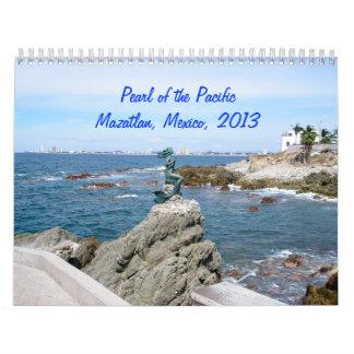 Repique del Mazatlan pacífico Calander 2013 Calendario De Pared