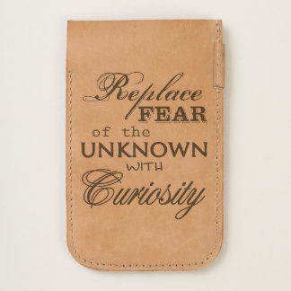 """Replace Fear Of The Unknown With Curiosity"" Quote iPhone 6/6S Case"
