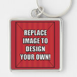 Replace Image to Design Your Own! Keychains