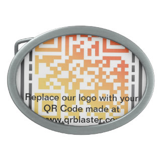 Replace our logo with your QR Code Belt Buckle