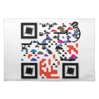 Replace our logo with your QR Code Cloth Placemat