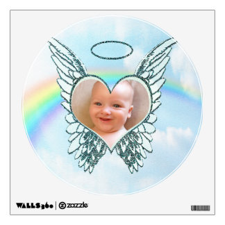 Replace Photo Angel Wings and Heart Wall Sticker